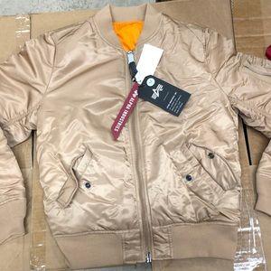 Women's Rose Gold Bomber Jacket